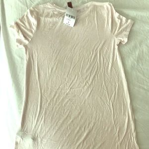 Forever 21 Pink white striped long T-shirt Sz L